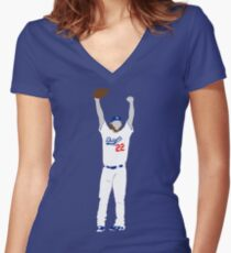 No Hitter Women's Fitted V-Neck T-Shirt