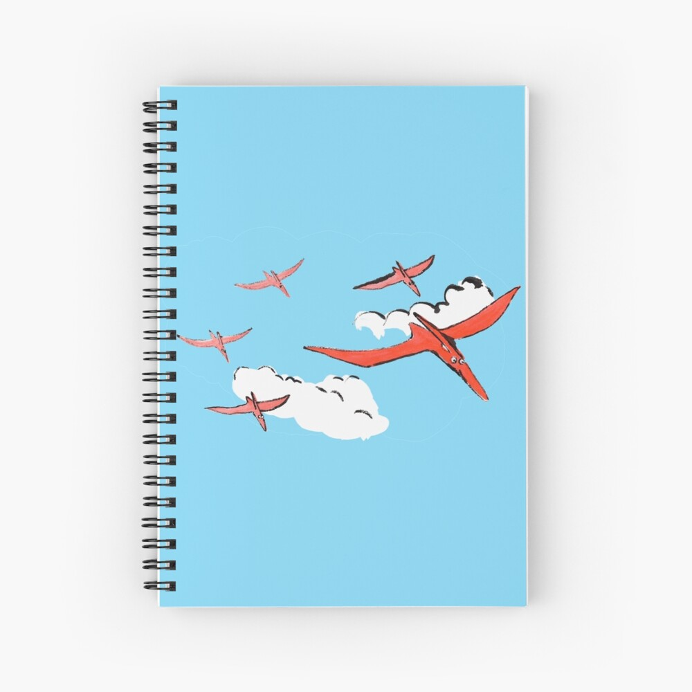 Pterodactyl Flying Squadron Spiral Notebook