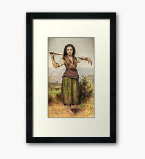 The Shepherdess - HDR Framed Print
