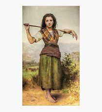 The Shepherdess - HDR Photographic Print