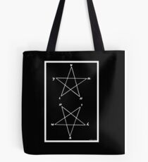 "Magick Pythagorean Pentagram ""HYGEIA"" Tote Bag"