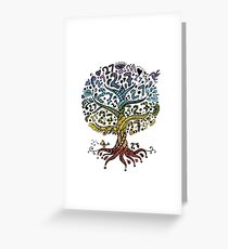 Floral tree beautiful, summer Greeting Card