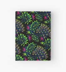Cactus Floral - Bright Green/Pink Hardcover Journal