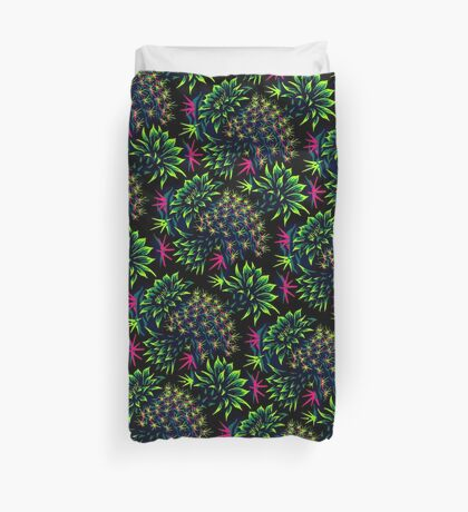 Cactus Floral - Bright Green/Pink Duvet Cover