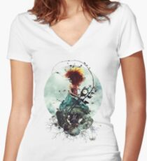 Delirium Women's Fitted V-Neck T-Shirt