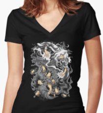 Core Art No.8 Women's Fitted V-Neck T-Shirt