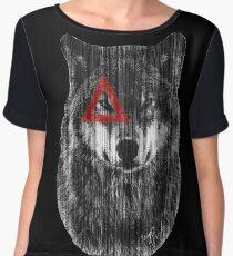 Wolf. Chiffon Top