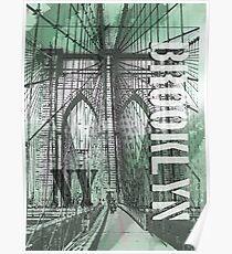Brooklyn bridge drawing posters redbubble brooklyn bridge poster malvernweather Gallery