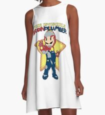 The Invincible Iron Plumber A-Line Dress