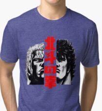 Kenshiro and Raoh Tri-blend T-Shirt