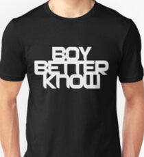 d0c92299 Boy Better Know - Chest Placement (white) Slim Fit T-Shirt