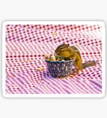 Chipmunk Picnic Sticker