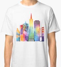 San Francisco landmarks watercolor poster Classic T-Shirt