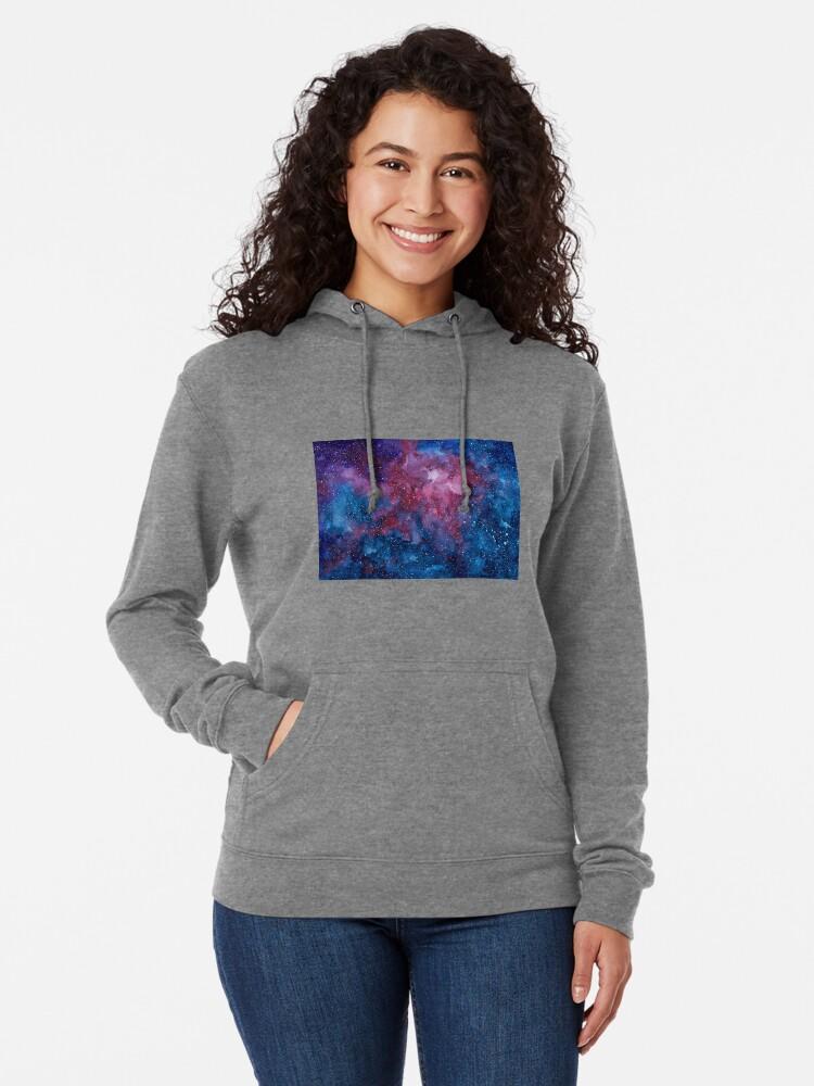 Alternative Ansicht von Galaxis Leichter Hoodie