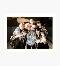 BTS/Bangtan Sonyeondan - Fire Group Photo Art Print