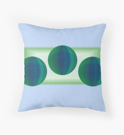 Merry Mathie Baubles Throw Pillow