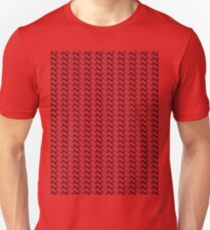 Red knitted pattern.  Unisex T-Shirt
