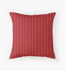 Red knitted pattern.  Throw Pillow