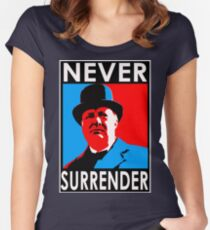 NEVER SURRENDER Women's Fitted Scoop T-Shirt