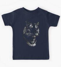 tiger, black shirt Kids Tee