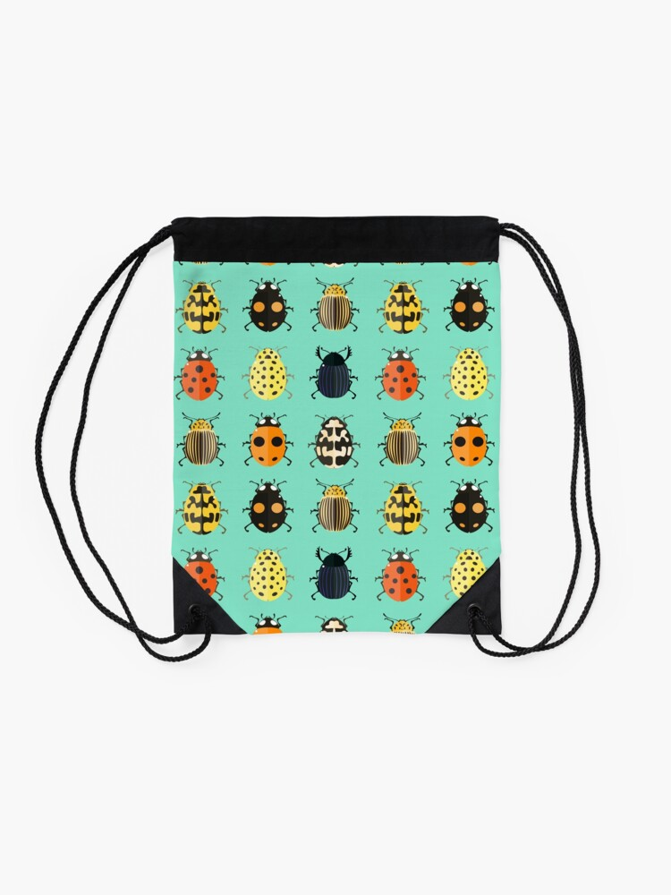 Alternate view of Insects. Drawstring Bag