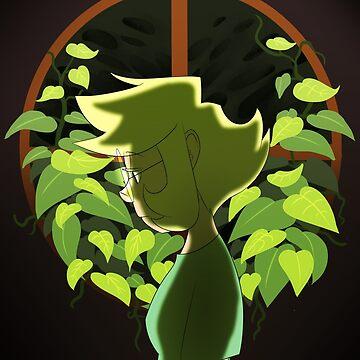Margo through the leafs by Waterdrain