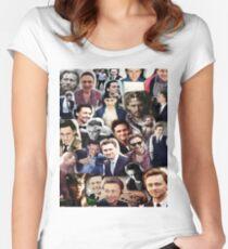 Camiseta entallada de cuello redondo Collage de Tom Hiddleston