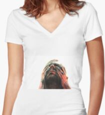 Body paint Women's Fitted V-Neck T-Shirt