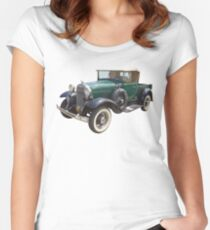 1930 Ford Model A Antique Pickup Truck Women's Fitted Scoop T-Shirt