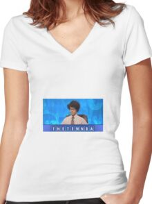 Final Countdown Women's Fitted V-Neck T-Shirt