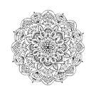 Mandala ornament, hand made by Kudryashka