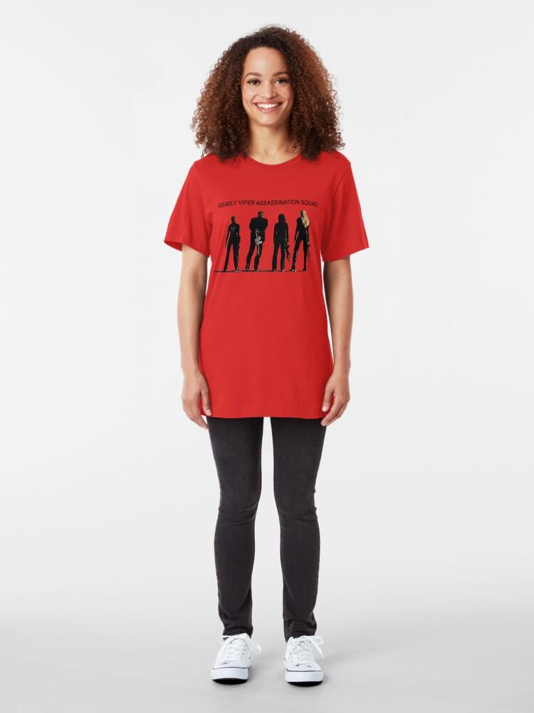Vista alternativa de Camiseta ajustada Deadly Viper Assassination escuadra - Kill Bill