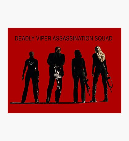 Deadly Viper Assassination escuadra - Kill Bill Lámina fotográfica