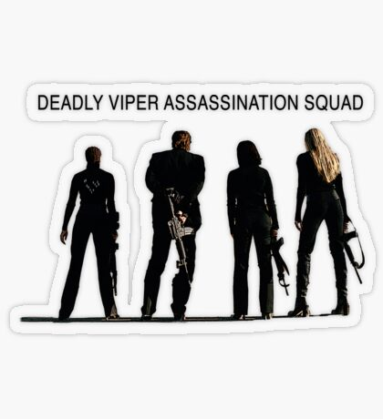 Deadly Viper Assassination escuadra - Kill Bill Pegatina transparente