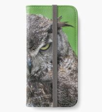Great Horned Owl iPhone Wallet