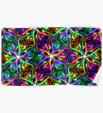 Psychedelic Pattern, Ornament, Mandala, Design, Art, Flower, Fantasy, Magic, Geometry, Rainbow Poster