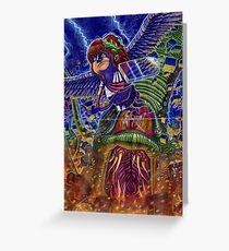 Kid Icarus: Pit vs Medusa Greeting Card