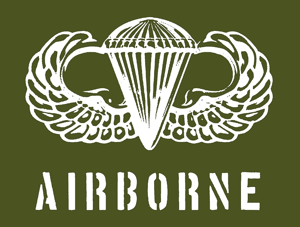 US airborne parawings - white by wordwidesymbols