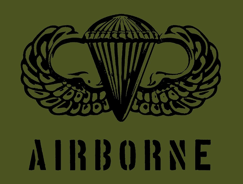 US airborne parawings - black by wordwidesymbols