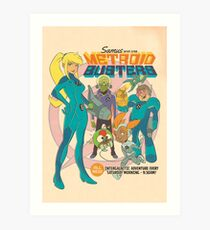 Samus and the Metroid Busters Art Print