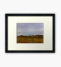 Scrub and Hills Outback Australia Framed Print