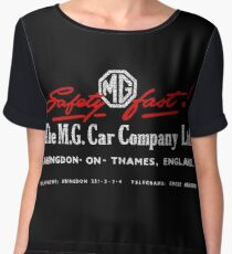 Mg Car Company Safety Fast England Chiffon Top