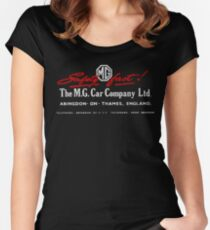 Mg Car Company Safety Fast England Women's Fitted Scoop T-Shirt