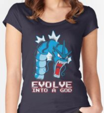 Evolve into a GOD Women's Fitted Scoop T-Shirt