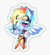 My little pony, Tracer cross-over Rainbow Dash  Sticker