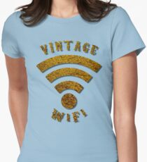 Vintage WiFi Symbol Womens Fitted T-Shirt