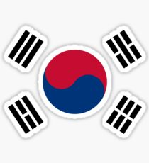 Living Korea Flag Sticker