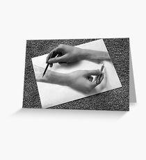 MC Escher - Drawing Hands Greeting Card