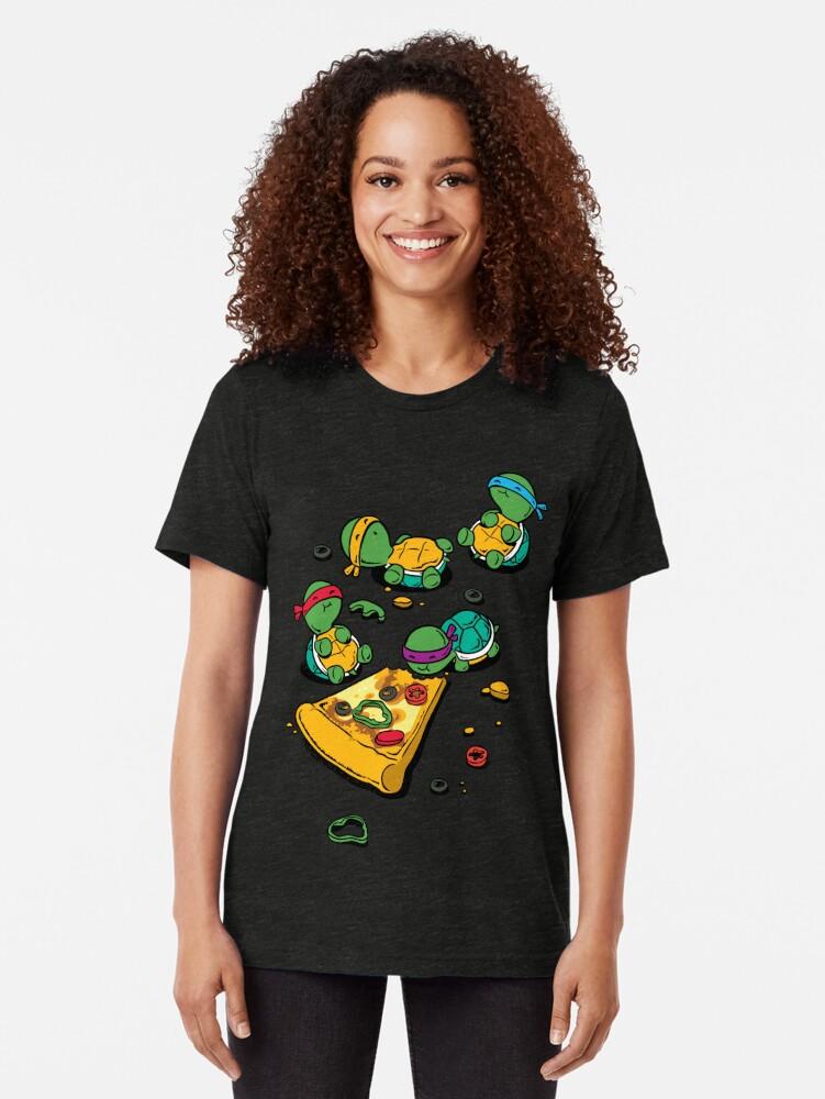 Vista alternativa de Camiseta de tejido mixto Amante de la pizza
