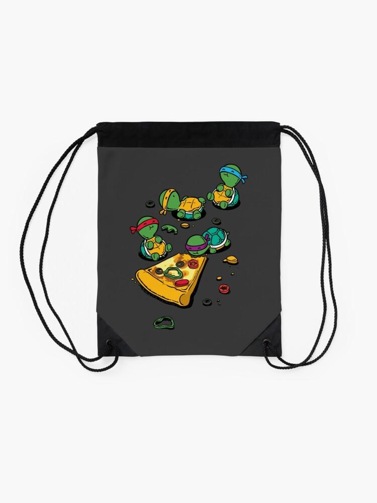 Vista alternativa de Mochila de cuerdas Amante de la pizza